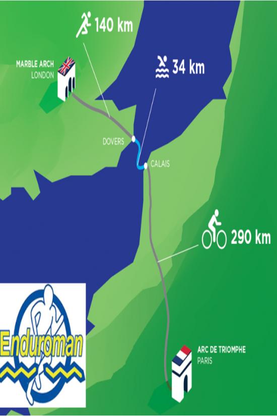 Triathlon de l'extrême pour protéger les océans: Marble Arch 2 Arc 1