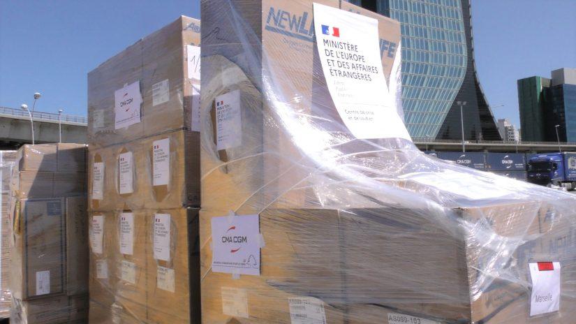 """""""Un Bateau pour le Liban"""" convoie 2 500 tonnes de biens d'urgence pour Beyrouth 1"""